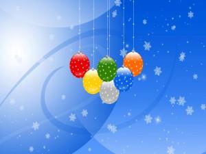 Bolas decorativas para los días de fiesta