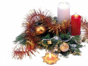 Delicado arreglo para los días festivos de Navidad