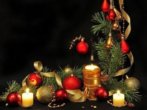 Hermoso arreglo navideño
