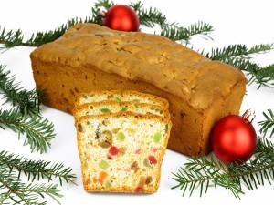 Exquisito fruitcake para los días de fiesta