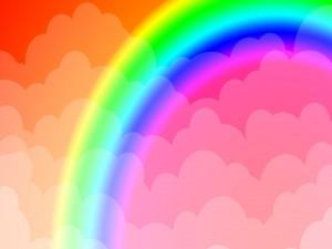 Arcoíris en las nubes