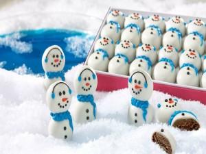 Muñecos de nieve de chocolate