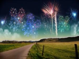 Fuegos artificiales de Año Nuevo