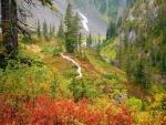 A principios de otoño en la montaña