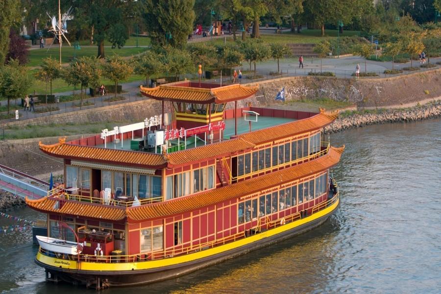 Barco de recreo en China