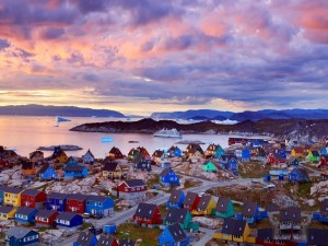Casas de colores en Groenlandia