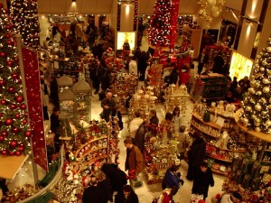 Tienda de adornos navideños