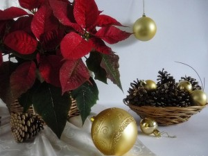 Decoración para la mesa de Navidad