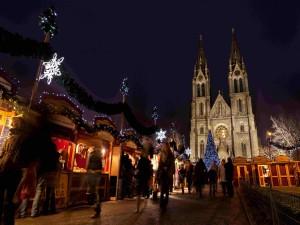 Noche en el mercado de Navidad de Praga