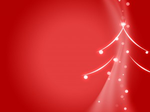 Árbol de Navidad abstracto sobre fondo rojo