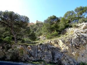 Vista del castillo de Santa Barbara (Alicante)
