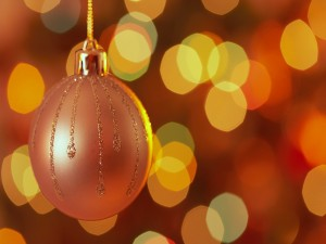 Bonita bola de Navidad