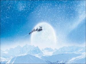 Papá Noel viajando