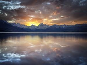 Lago Pukaki, Nueva Zelanda