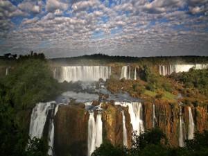 Cascadas en la frontera de Brasil y Argentina