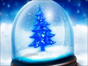 Árbol de Navidad dentro de una bola