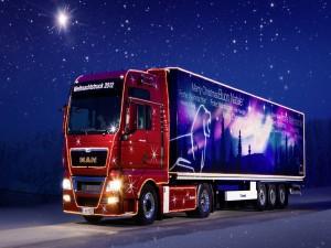 El camión de la Navidad