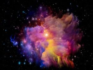 Resplandecientes colores en el espacio