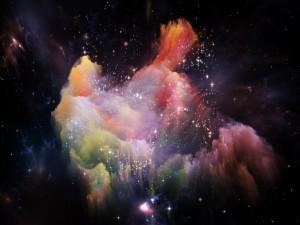 Explosión de colores entre las estrellas