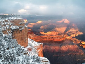 Nieve en el Parque Nacional del Gran Cañón