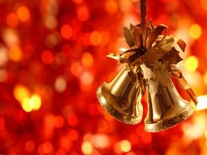 Campanas doradas para las próximas fiestas