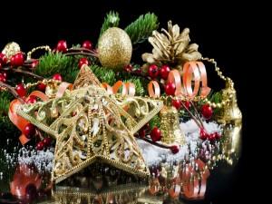 Arreglo decorativo para los días festivos de Navidad