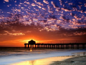 Hermoso cielo sobre la playa