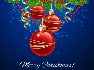 Tarjeta de felicitación para Navidad