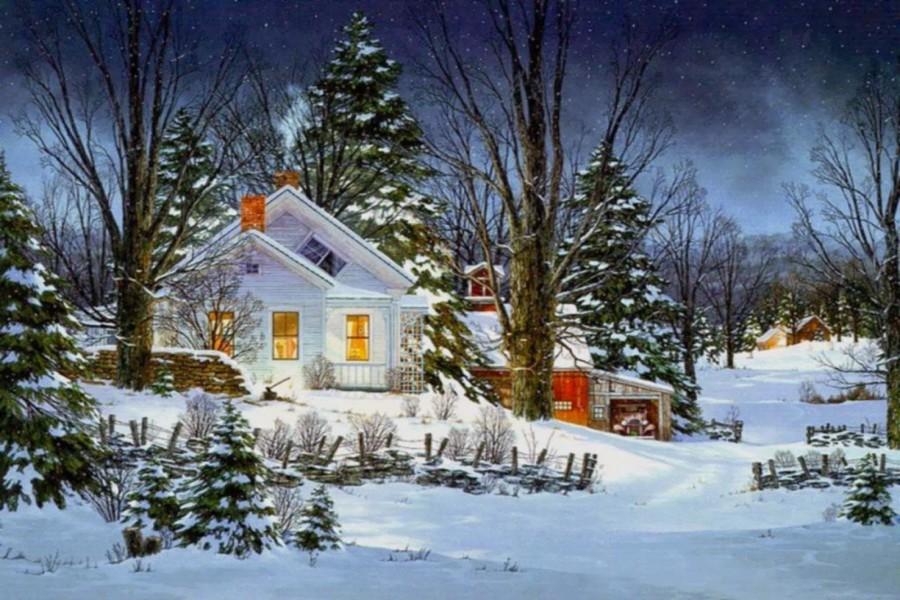 Noche navideña en la granja