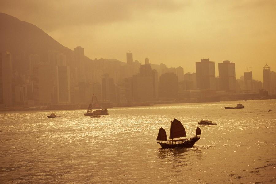 Barcos en Hong Kong
