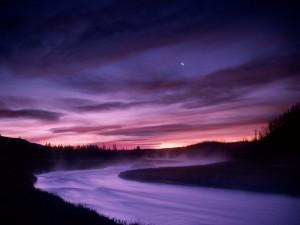 Luna sobre el río Madison