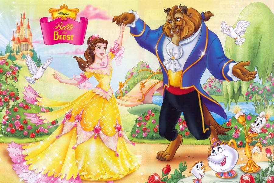 La Bella y La Bestia bailando