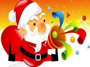 Papá Noel con los regalos