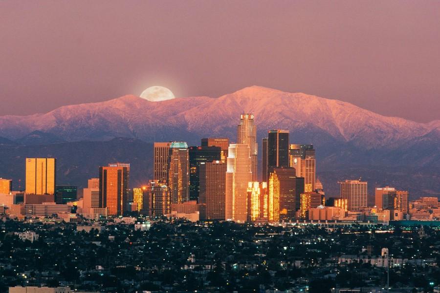Hermosa vista de la ciudad de Los Ángeles