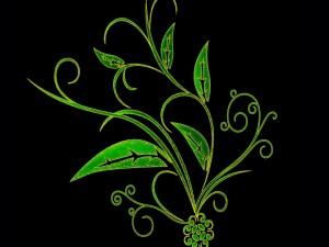 Ramas con hojas verdes