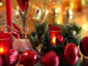 Elegante decoración para las fiestas navideñas