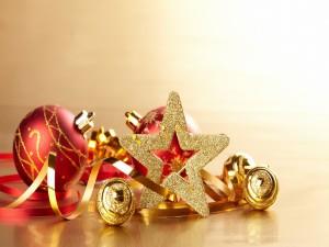 Una estrella dorada para Navidad