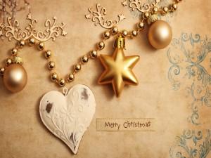 Feliz Navidad junto a una guirnalda decorativa