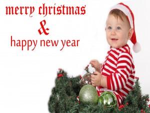 Simpática felicitación de Navidad y Año Nuevo