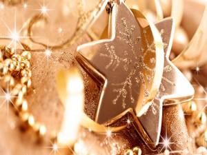 Estrella dorada para Navidad