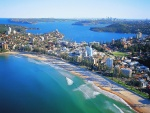 Vistosa playa de Manly (Sídney, Australia)