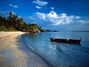 Canoa a orillas de una playa
