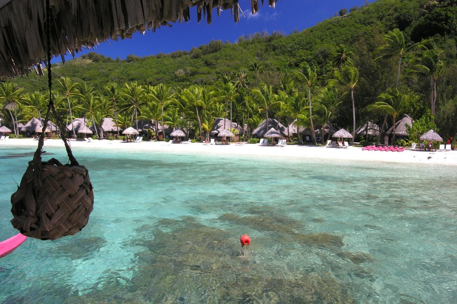 Atractiva playa en Bora Bora