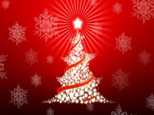 Arbolito navideño formado de estrellas