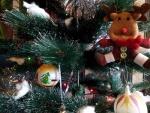 Reno en el árbol de Navidad