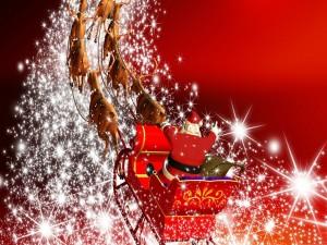 Santa Claus repartiendo magia en Navidad