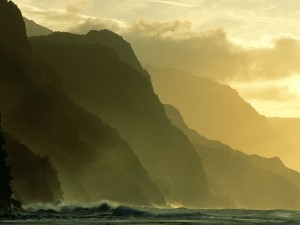 Hermosa costa de Kauai (Hawái)