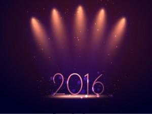 Luces iluminando el Nuevo Año 2016