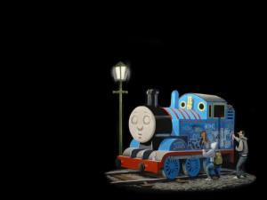 Pintando grafitis en una locomotora