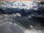 Montañero en la cumbre